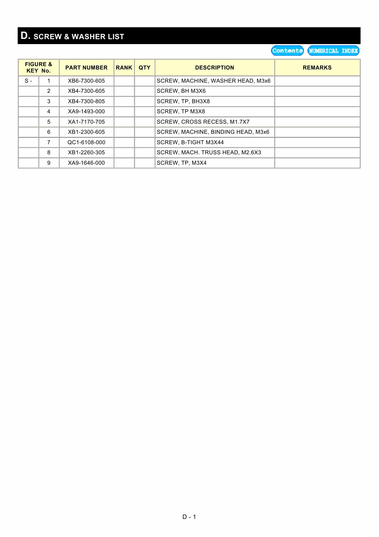 Canon PIXMA MP450 MP170 Parts Catalog